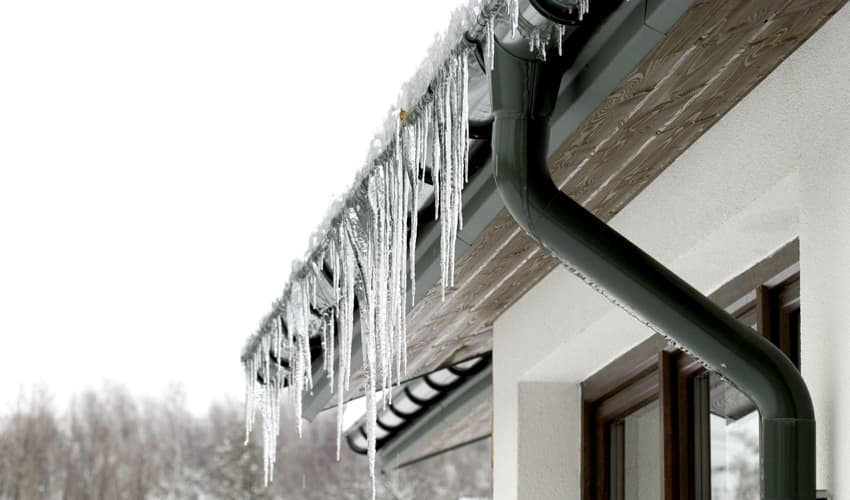 Cleaning your gutters is a good way to prevent ice dams from forming.